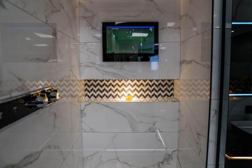 TV in the shower bathroom accessories