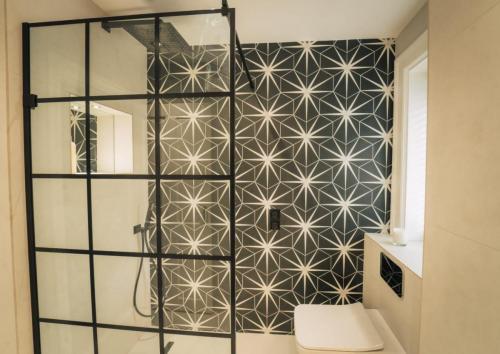modern shower panel